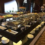 Breakfast buffet at Skyline Restaurant, included in Tirant Hotel stay, Hanoi, Vietna