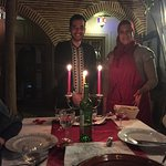 Hicham and Latifa serving dinner at the riad