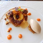 Carrot cake creme brulee