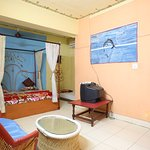 Super deluxe room with air-conditioning, wi-fi, room service.