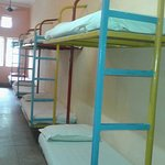 8 beds in the dormitory.