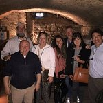 With Francesco in the wine cellar!
