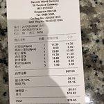 dinner bill for 3pax