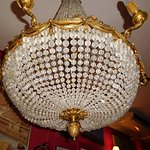 One of the Chandeliers, only lit by my flash.