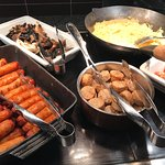 hot foods buffet with Irish breakfast specialities
