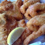 Fish $21.00 & Squid Rings $8.50