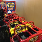 Kiddie carts for the todlers.