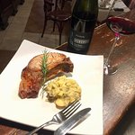 """One of our new main courses: Roasted pork loin with """"cunzata"""" potatoes."""