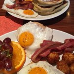 The Lumberjack and Eggs on Muffin. Amazing breakfast.