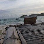 beach chair infront of warung turtle