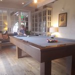 great pool table area adjacent to Good Bar