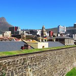 Ramparts looking out on the city of Cape Town and Lion's Head, Castle of Good Hope