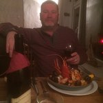 me and my main, Paella with another 1/2 Lobster