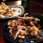 Soft shell crab and fried squid INSTA: aylaeats