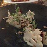 Cauliflower salad starter and ox cheek! Yum!