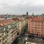 Views from top of the Intercontinental Prague