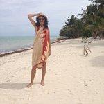 On the beach at Serenidad Shardon