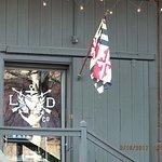 Lyon Distilling Company by the door