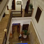 View into the riad from just outside the room