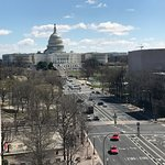 A view down Pennsylvania Avenue from the terrace