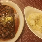 22 oz sirlion and mashed potatoes with gravy