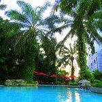 The pool at Sama-Sama Hotel.