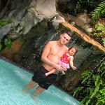 Me and my daughter at the pool at Sama-Sama Hotel.