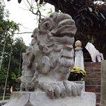 statue near the One Pillar Pagoda