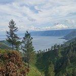 View of part of Toba lake and Samosir island.
