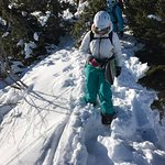 on the search for fresh snow on the Mint off-piste freeride camp