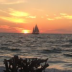 "Sunset photo of the ""Catherine"" taken from Longboat Key"