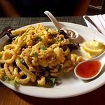 Calamari dusted with corn meal