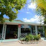Oualie Beach Restaurant terrace from the beach