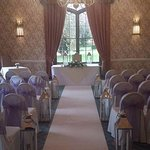 The wedding ceremony was conducted in the Cardeston Suite