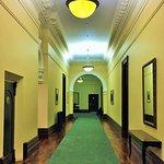The grand hallways