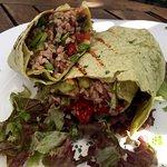 Excellent veggie burrito.