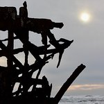 Sunset at the shipwreck.
