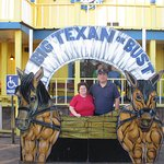 Us in front of the Big Texan