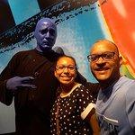 Con el Hombre Azul