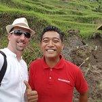 rice fields with Kadek