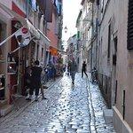 Inside the old town Rovinj, Croatia