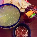 Salsa is the best anywhere with great drinks.