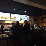 Down town Cincinnati near the US Bank arena. Great burgers, 14 ingredients in their Veggie burge