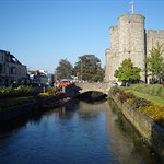 The crystal-clear and fast-flowing River Stour bisects Canterbury's lovely Westgate Gardens.