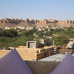 View of Jaisalmer fort from roof top