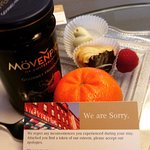Apology & snacks from the staff for a small error with our booking