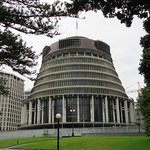 The Beehive -- New Zealand's Parliament Building