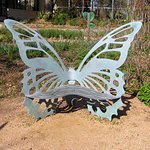 A butterfly bench
