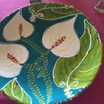 One of the lovely plates made by the featured artist