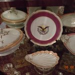 2 sets of WH china! Mary never used the peach/white set, ordered for Lincoln's 2nd term of offic
